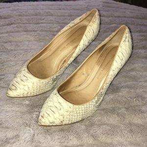 Zara snake skin heels